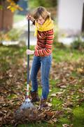 Autumnal gardening Stock Photos