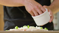 Young man decides to make home made Pizza for Dinner. - stock footage