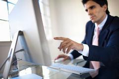 Young businessman starting enterprise Stock Photos