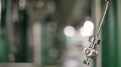 Pipes at a beer plant - stock footage
