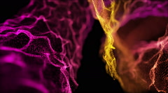 Fantastic Heavenly Rack Focus Particles Background Full HD Pink Stock Footage