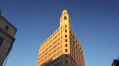 Historic Emily Morgan Hotel in Downtown San Antonio Stock Footage