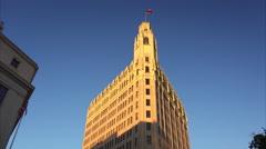 Historic Emily Morgan Hotel in Downtown San Antonio - stock footage