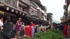 People preparing chinese lanterns during the Lantern Festival Stock Footage