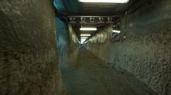 Salt mine interior - Steadicam shot Stock Footage