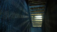 Steadicam shot of a salt mine cave Stock Footage