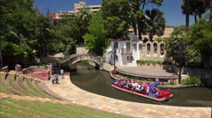 Arneson River Theatre at the San Antonio River Walk Stock Footage