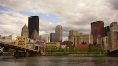 Pittsburgh Pennsylvania Downtown Urban City Skyline Monongahela River Stock Footage