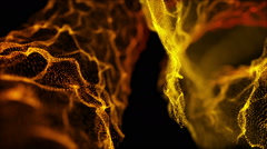 Fantastic Heavenly Rack Focus Particles Background Full HD Gold Yellow Orange Stock Footage