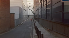 Young man taking a run through the city. Stock Footage