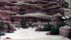 1959: Red Rocks Amphitheatre empty tour of historic music venue. Stock Footage