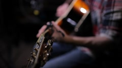 Young Guitarist Stock Footage
