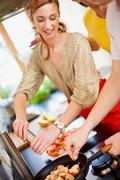 Party cooking Stock Photos