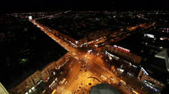 Urban landscape. City traffic. Top view of the russian city. Voronezh. Stock Footage