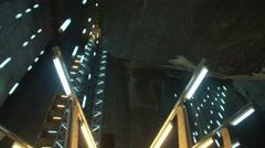 Salt mine futuristic interior Stock Footage
