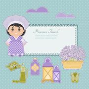 Vector set of Provence. - stock illustration