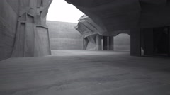 Empty dark abstract concrete room interior. - stock footage