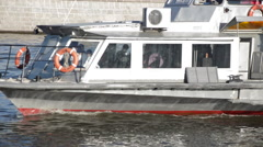 Boat Trip on the River - Water, Ships, People, House - stock footage