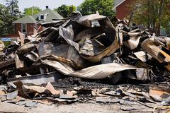 Demolished building - stock photo