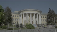 Architecture Of Kiev. October Palace. Ukraine. Stock Footage