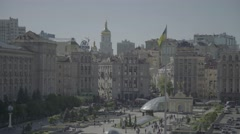 Timelapse. The Independence Square. The Symbol Of Kiev. Ukraine Stock Footage
