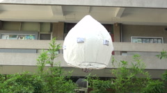Ecological chinese lantern in a school in Taichung, Taiwan Stock Footage