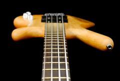 bass guitar abstract - stock photo
