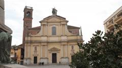 Parish Church in Garlasco, PV, Italy Stock Footage