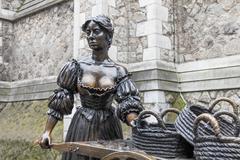 The Molly Malone statue, Dublin, Ireland - stock photo