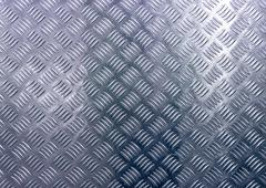 The diamond steel metal sheet Stock Photos