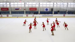 Synchronized Figure Skating Cup of Olympic sport complex - stock footage