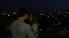 Couple enjoying the views of Paris together. Stock Footage