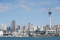 Auckland skyline Stock Photos