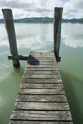 Northland, jetty in Hokianga Harbour Stock Photos