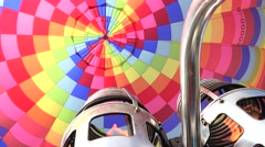 Activating the propane burner, Interior of a hot air balloon, 4K Stock Footage