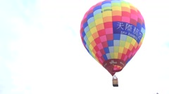Hot air balloon in the air, 4K Stock Footage