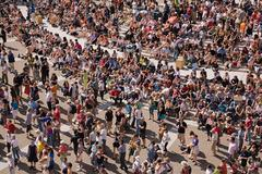 Crowds at montreal international jazz festival Stock Photos