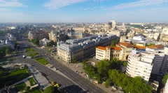 Time lapse - Aerial view of central Bucharest, Romania Stock Footage