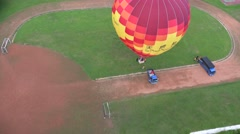 View from the air of a hot air balloon, 4K Stock Footage