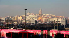 Istanbul Galata tower view - stock footage
