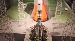 Model of rocket Union 2 in Museum of Cosmonautics Stock Footage