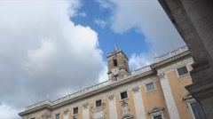Capitoline hill Rome town hall Stock Footage