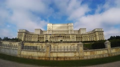 Time lapse of Palace of the Parliament in Bucharest, Romania Stock Footage