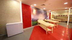 Rest room for football players in Spartak stadium. Stock Footage