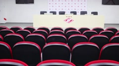 Meeting room in Spartak stadium in Moscow, Russia. Stock Footage