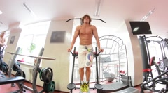 Athlete doing exercises for the ABS - stock footage