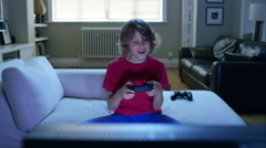 Family gaming on their console. Stock Footage