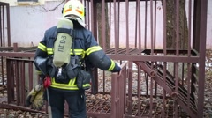 Training of rescue workers in North Eastern Administrative District Stock Footage