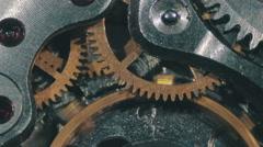 Clock Mechanism Works Stock Footage