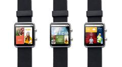 Close up of smart watch with internet applications Stock Photos